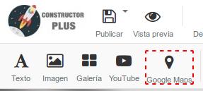 Opción de Google Maps en el Constructor Plus
