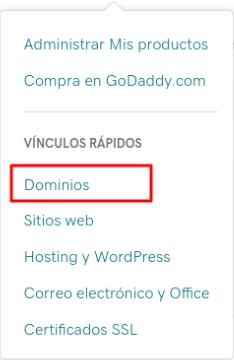 Ingresar a dominios desde GoDaddy
