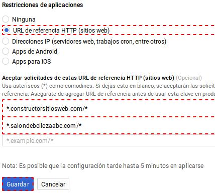 Restricciones de aplicaciones