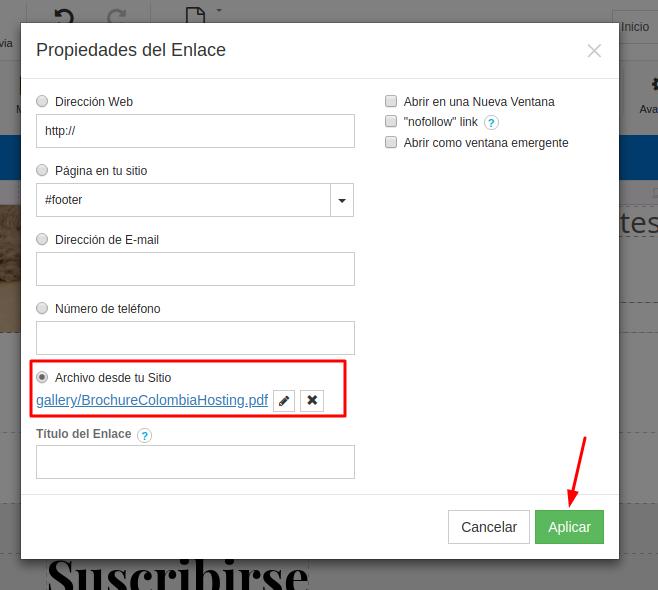 Aplicar los cambioss a el botón pdf