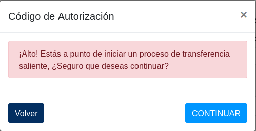 Botón de continuar en el formulario