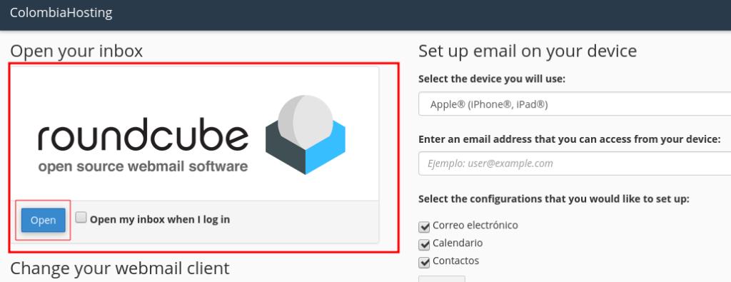Roundcube en Webmail