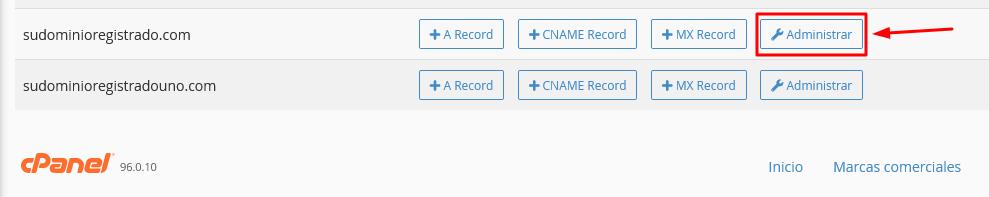 Administrar registro DNS desde cPanel