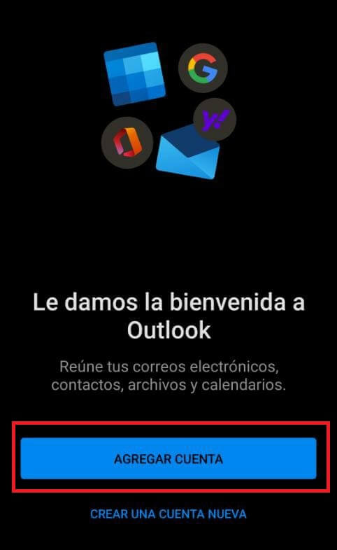 Agregar cuenta de correo a Outlook
