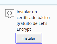 Emitir certificado SSL