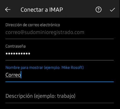 Configuración IMAP