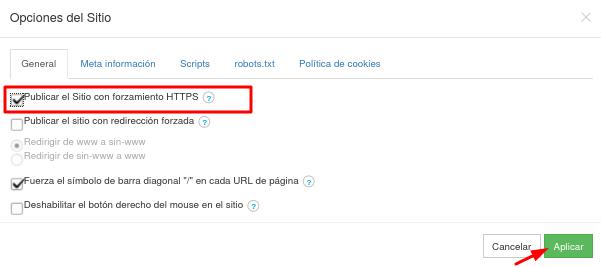 Habiltar HTTPS